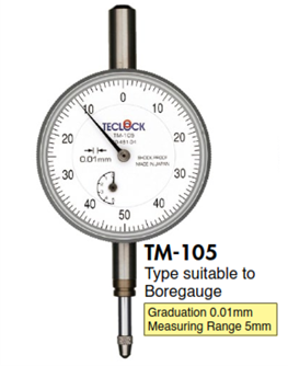 Đồng hồ so TM-105 Teclock