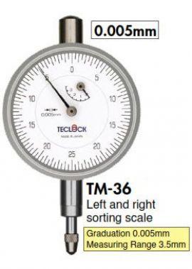 Đồng hồ so kim đo ngắn 0.005mm TM-36 Teclock