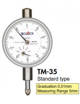 Đồng hồ so kim ngắn TM-35 Teclock